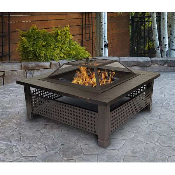 Outdoor Leisure Products Steel Wood Burning Fire Pit ... on Quillen Steel Outdoor Fireplace id=99303