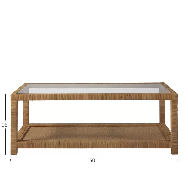 long key coffee table with storage
