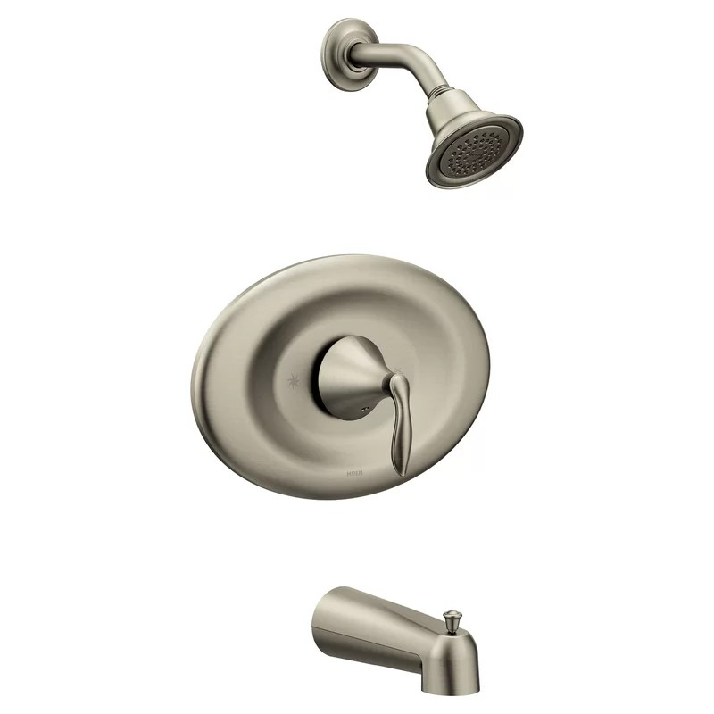 eva conversion tub and shower faucet with metal lever handle