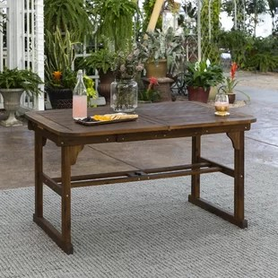 diboll extendable wooden dining table