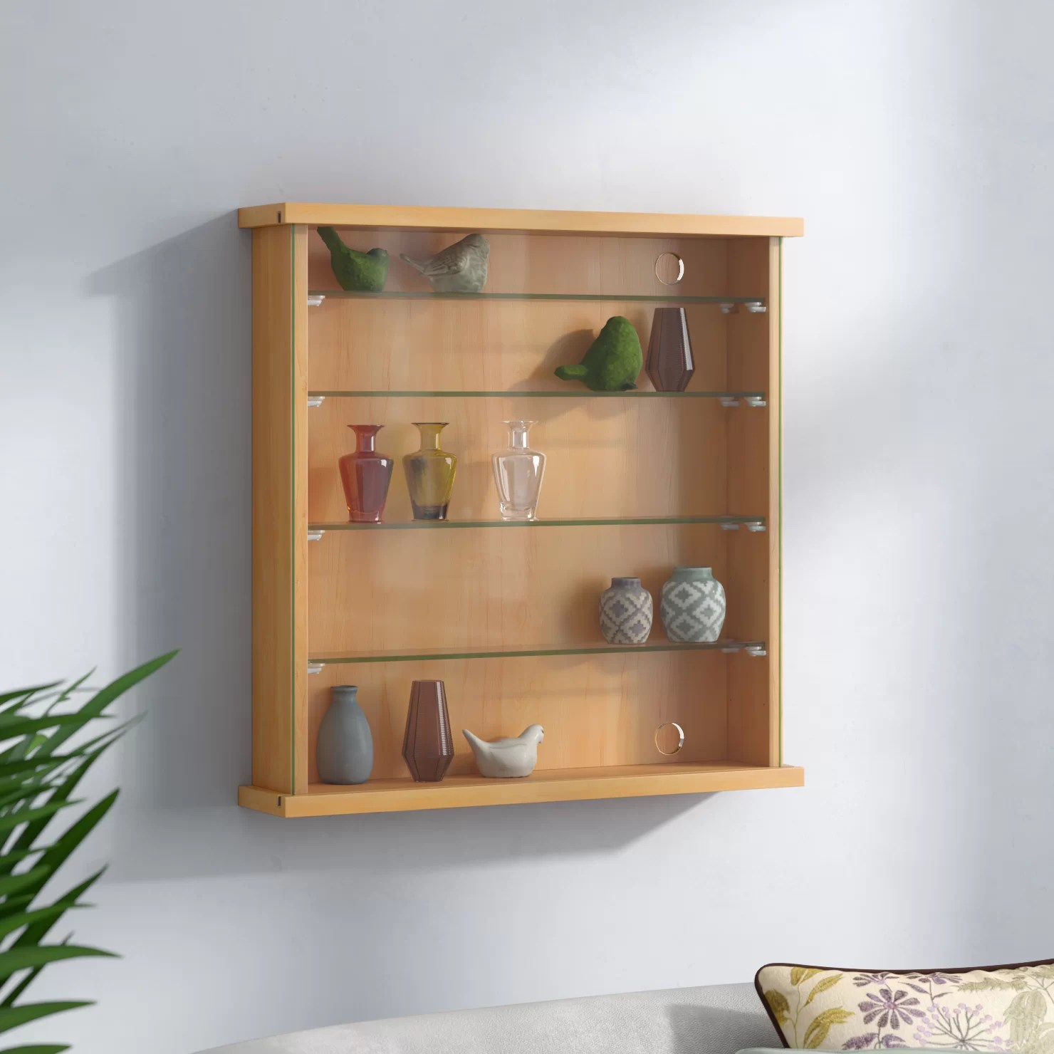 House Additions Wall Mounted Display Cabinet Reviews