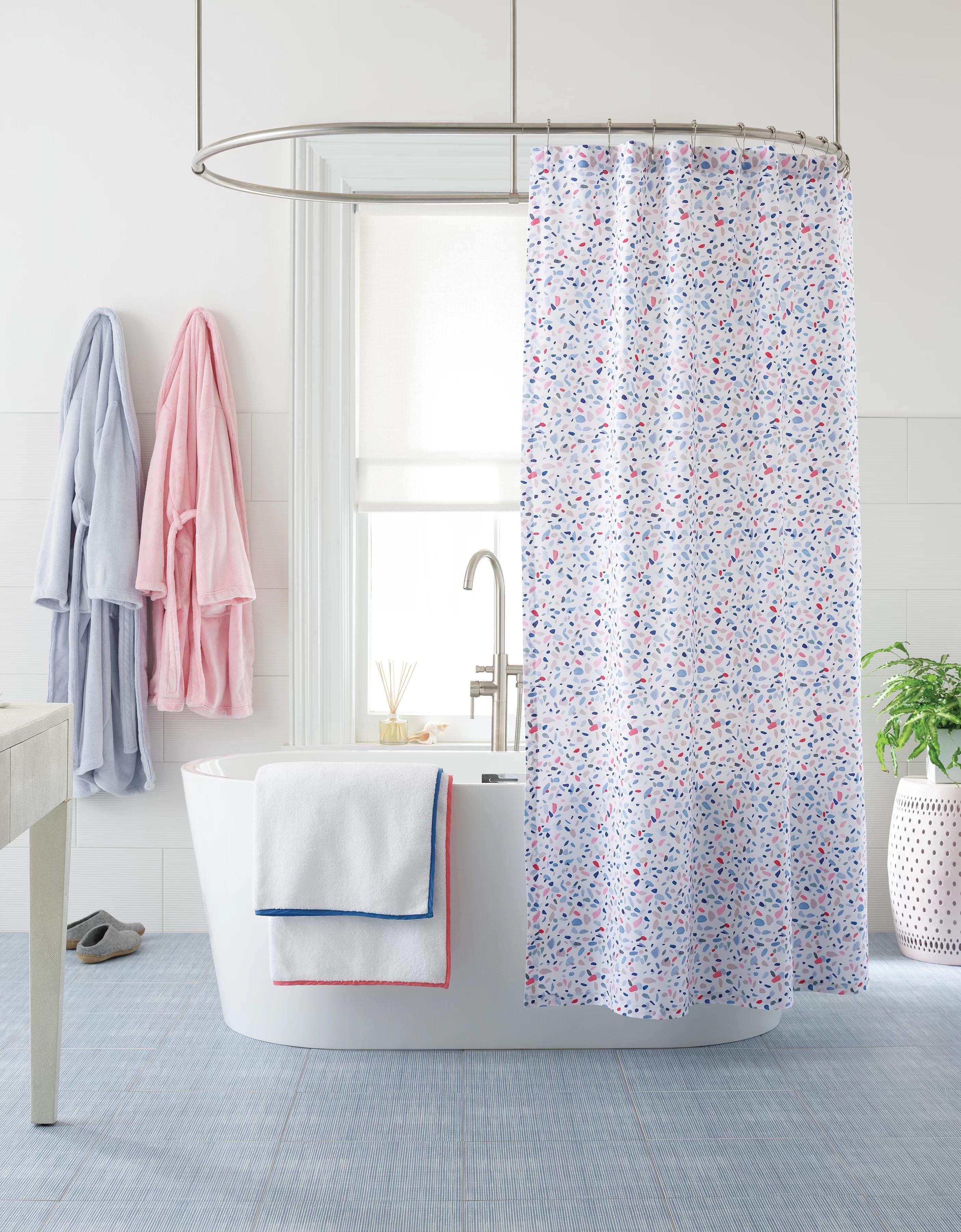 terrazzo 100 cotton single shower curtain
