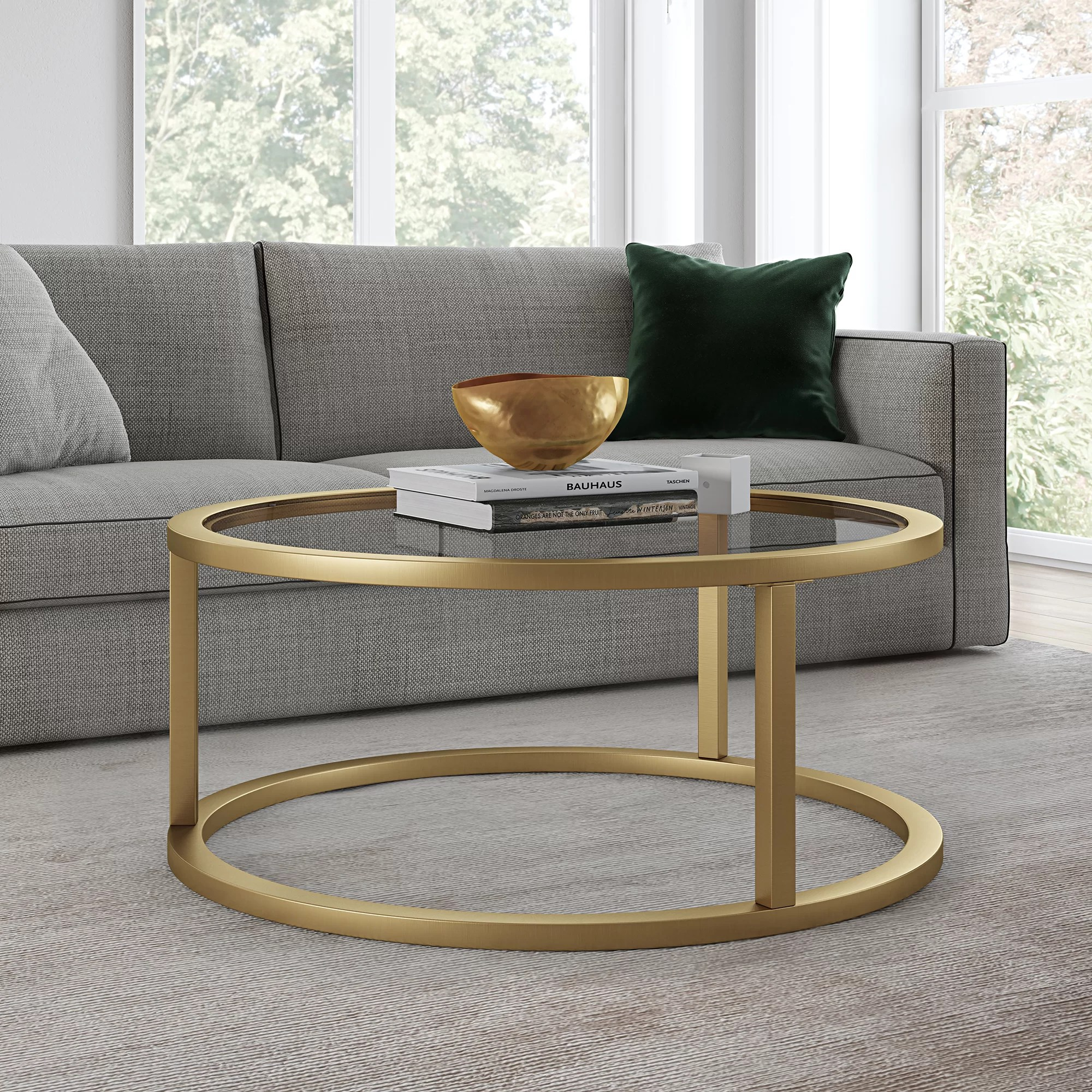 brass coffee tables free shipping