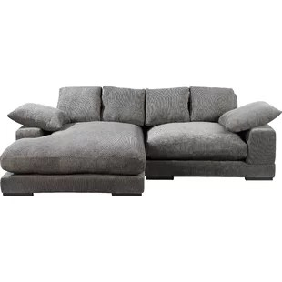 106 wide reversible sofa chaise