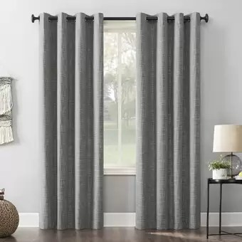 solid blackout thermal grommet curtain
