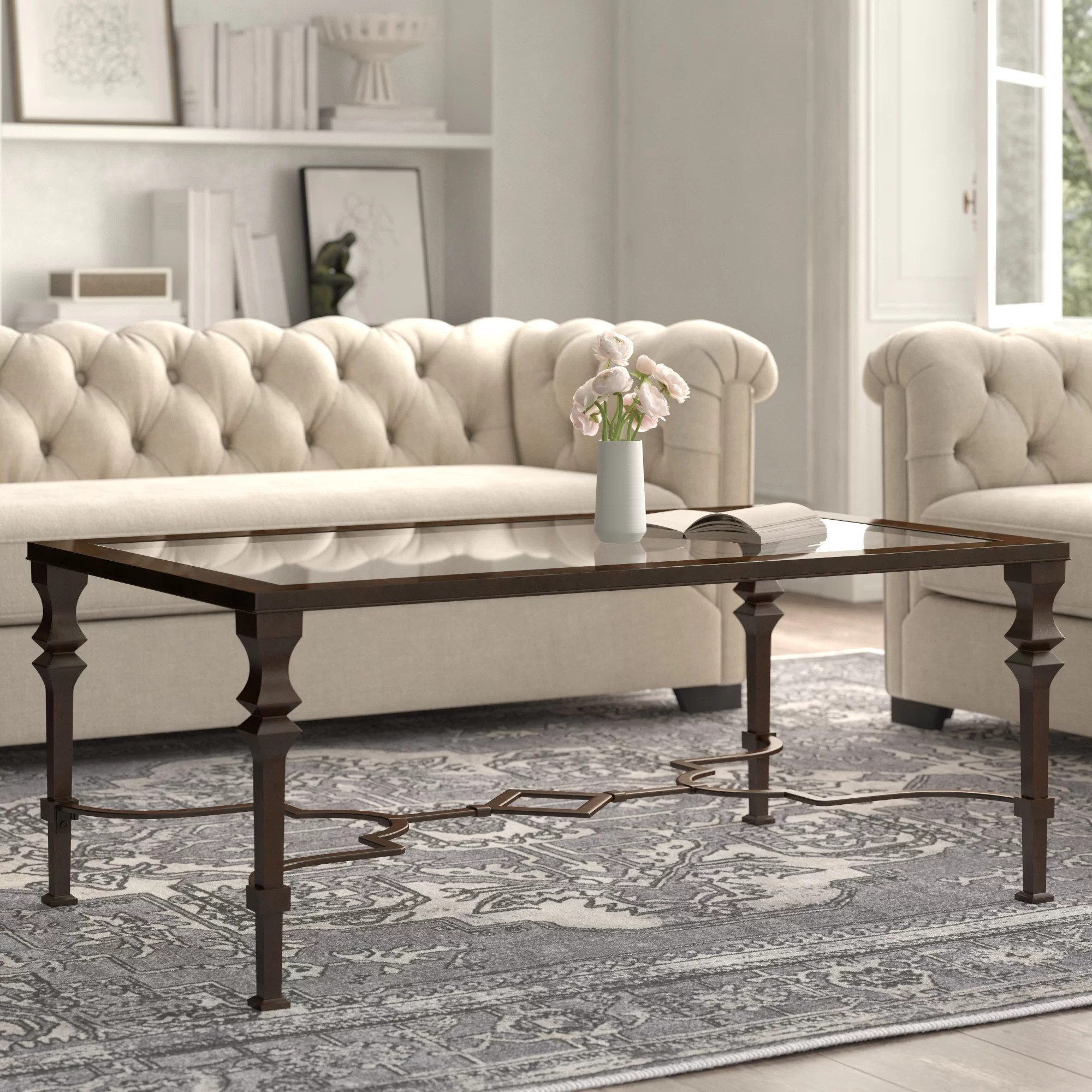 glass iron coffee tables you ll love in