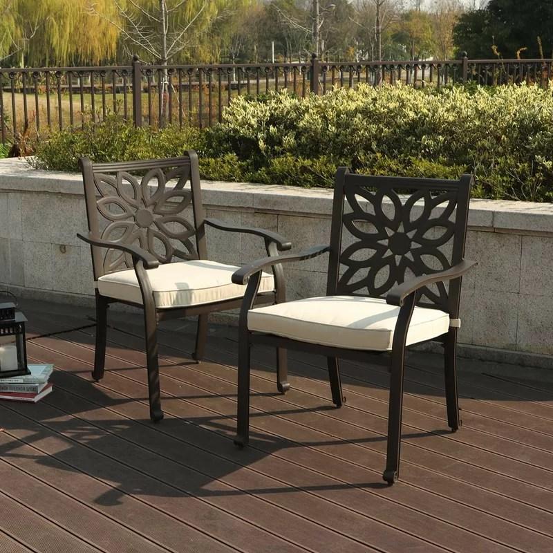 patio dining armchair with cushion