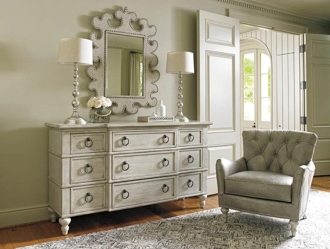lexington oyster bay barrett 9 drawer media chest & reviews | wayfair