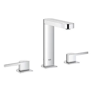 plus two handle widespread bathroom faucet with drain assembly