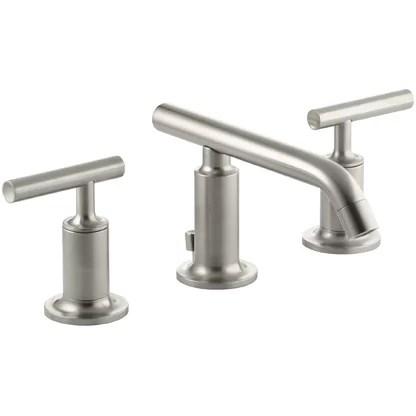 brushed nickel bathroom sink faucets