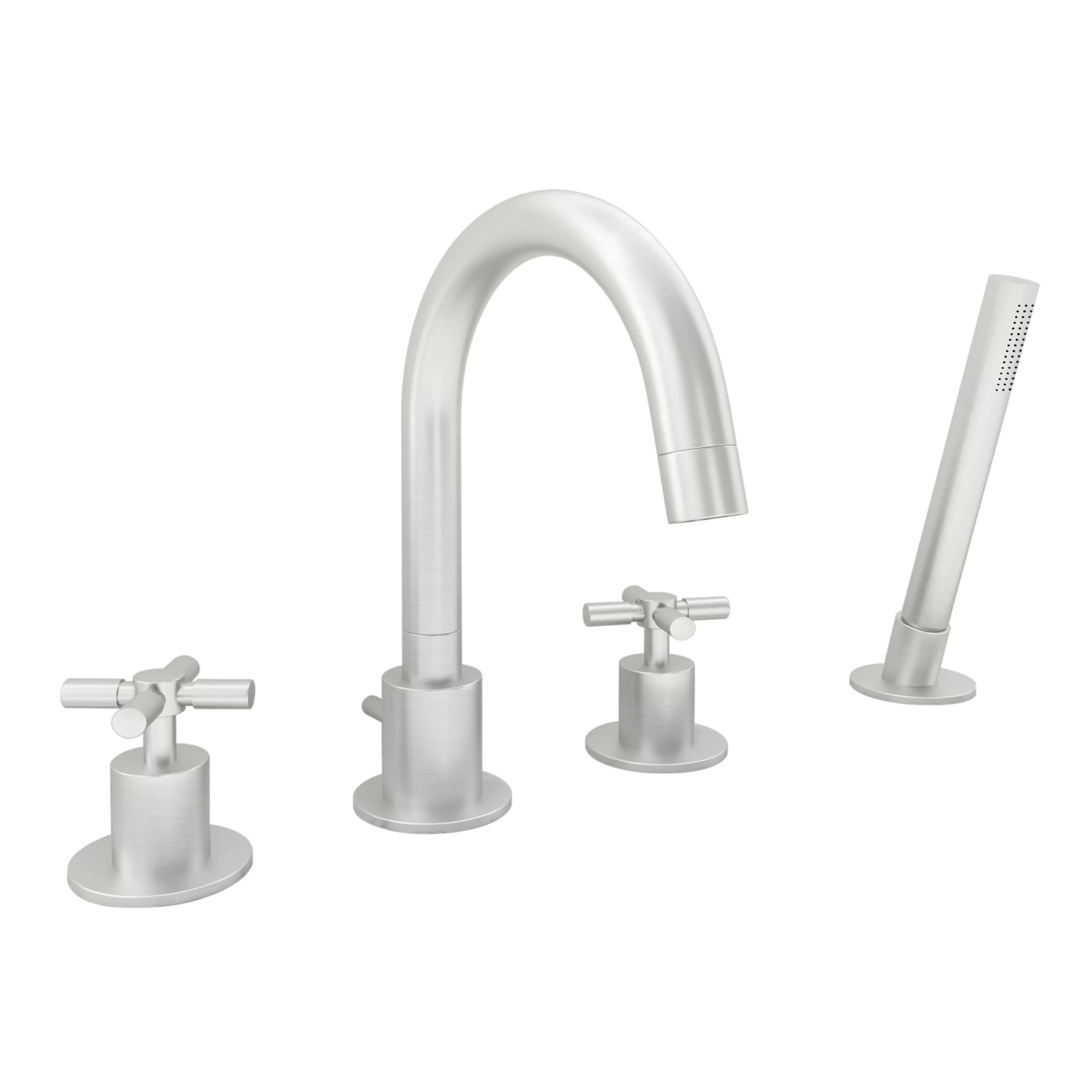 eliana double handle deck mounted roman tub faucet with handshower