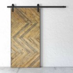 Urban Woodcraft Reclaimed Wood Chevron Barn Door With Installation Hardware Kit Wayfair