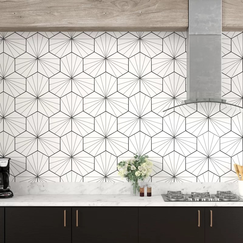 misha 9 x 10 porcelain patterned wall floor tile