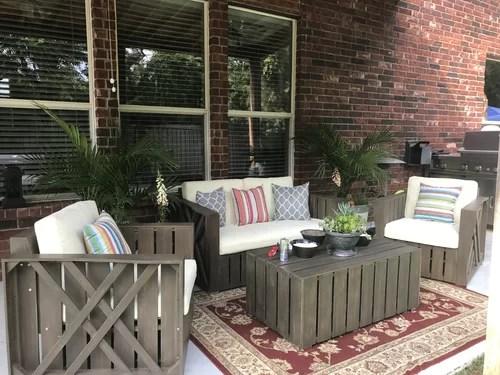 patio furniture industrial room design