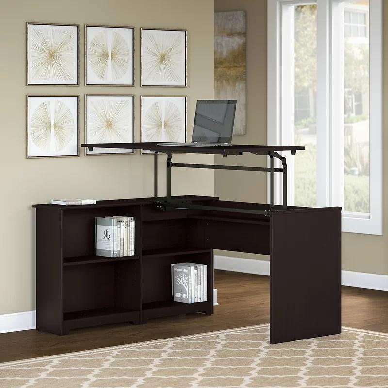 Hillsdale Height Adjustable Corner Sit & Stand Desk