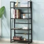 Wrought Studio Warnock Foldable Etagere Bookcase Wayfair
