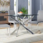 Wade Logan Coraline Glass Top Modern Dining Table Reviews