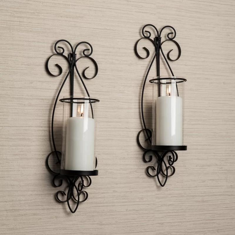 Wrought Iron Candle Holder Set