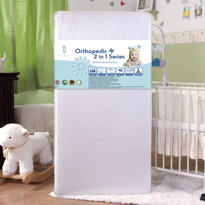 Maxi Pedic With Memory Foam Crib Mattress