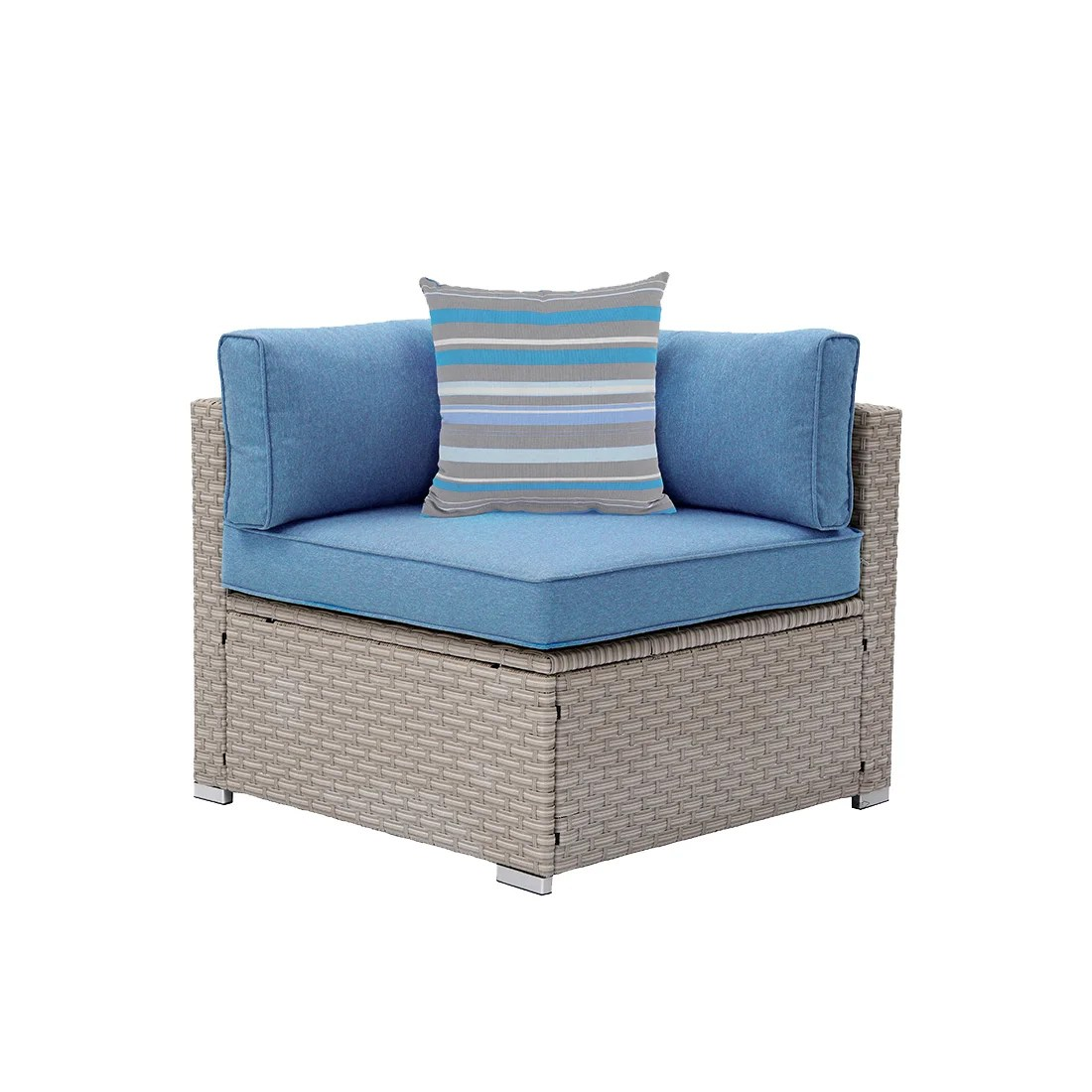 cosimo outdoor furniture right corner patio chair with cushions