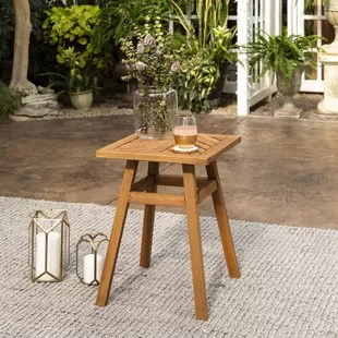 diboll wooden side table