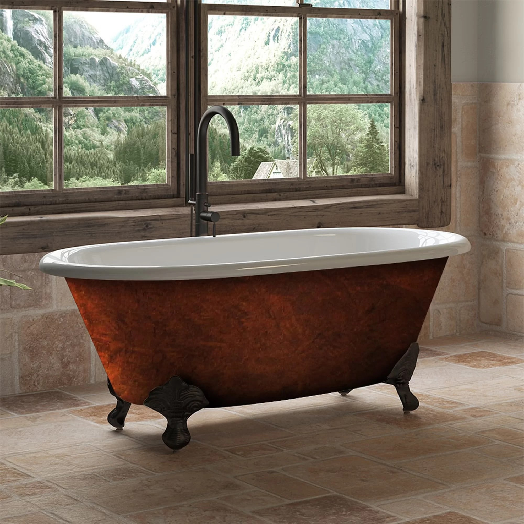 Cast Iron Clawfoot 60 X 30 Freestanding Soaking Bathtub