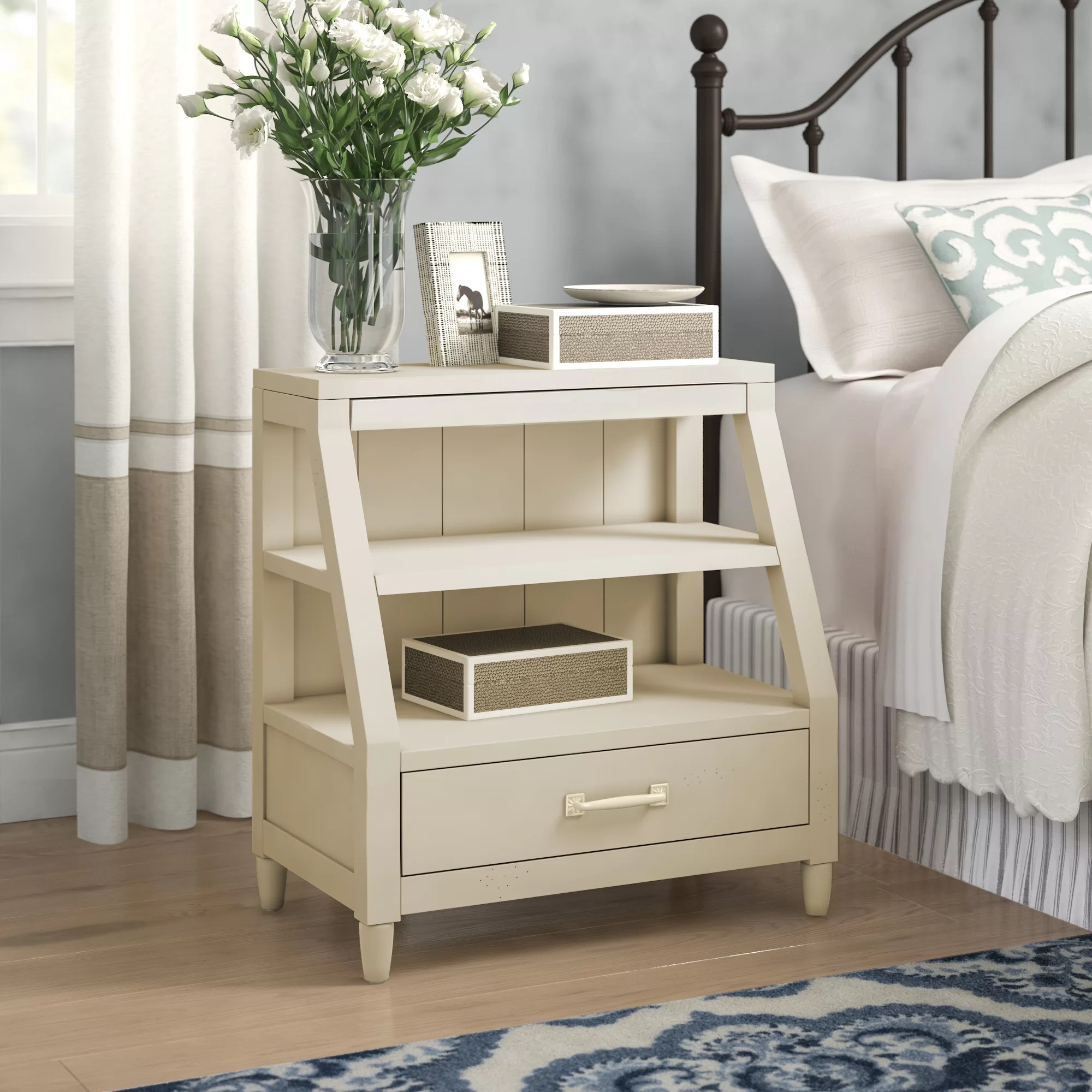 Reeves Open Shelf 1 Drawer Nightstand
