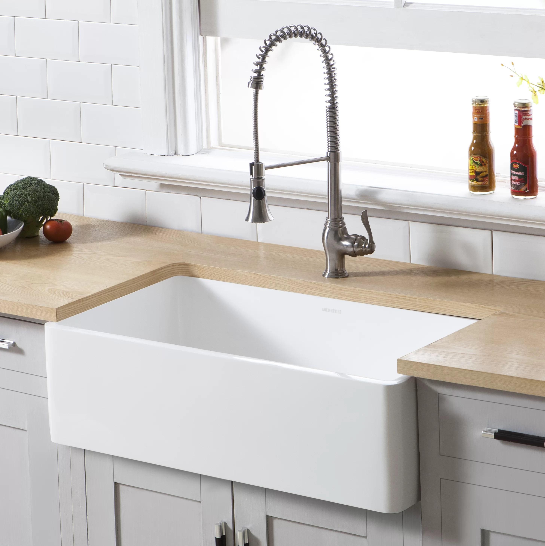 arcticstone single bowl 33 l x 18 w farmhouse kitchen sink