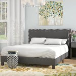 Andover Mills Kaniel Double Row Upholstered Low Profile Platform Bed Reviews Wayfair