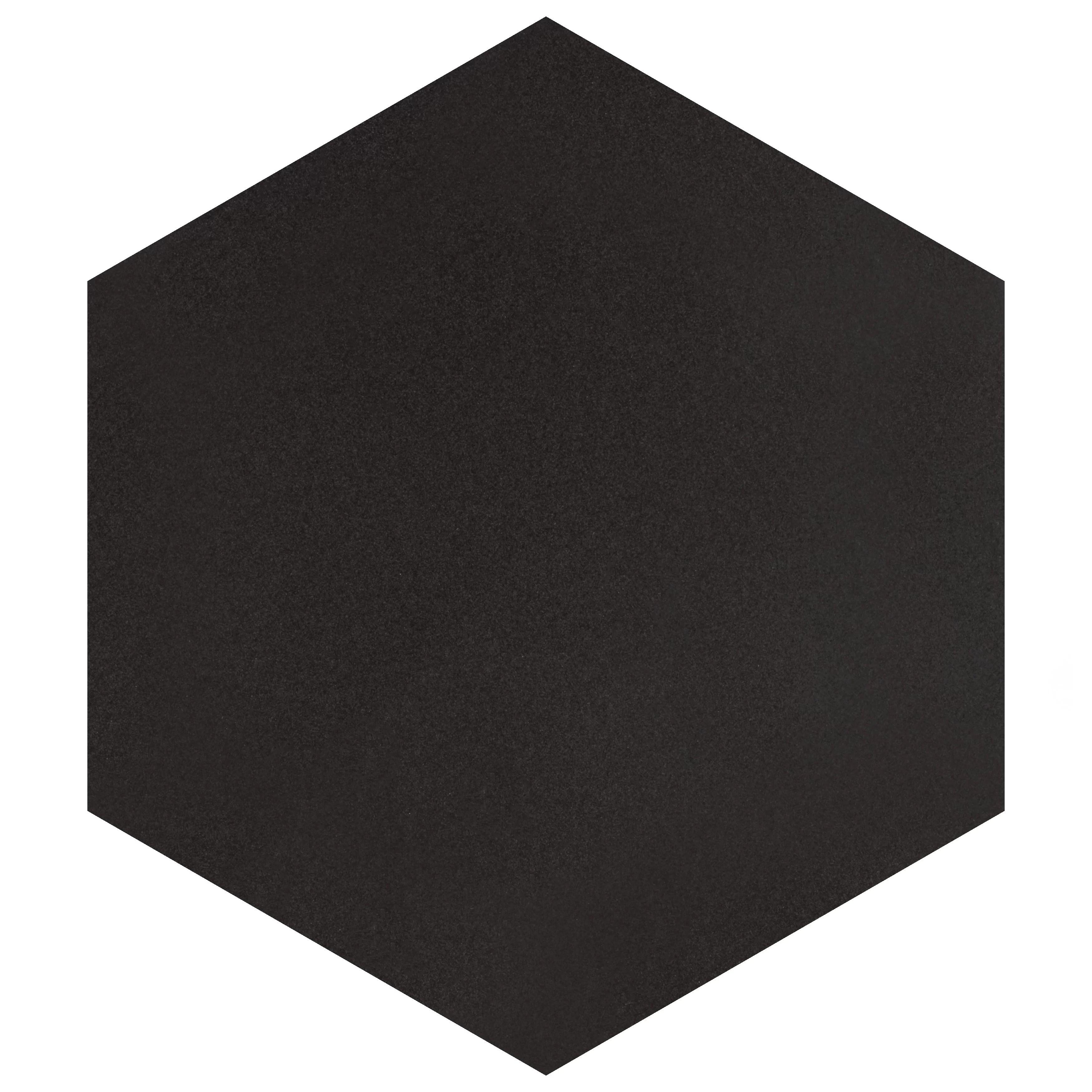 black hexagon floor tiles wall tiles