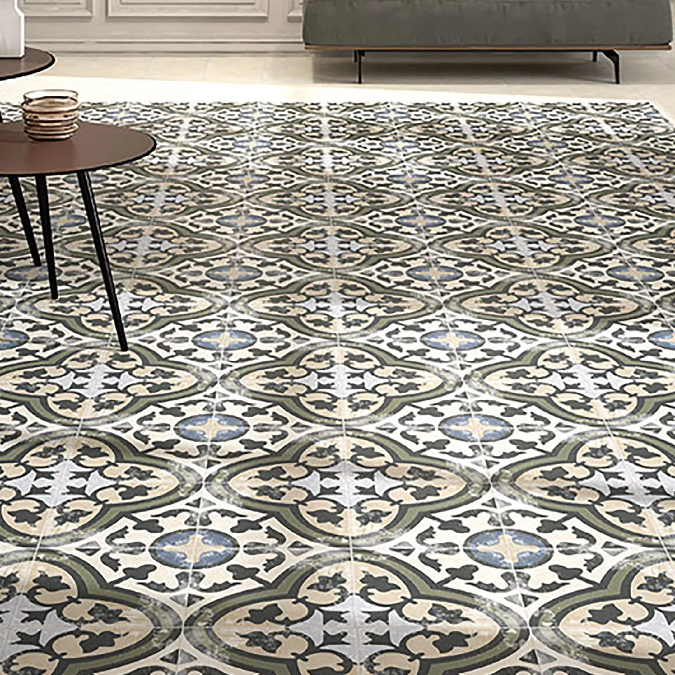 spanish design floor tiles