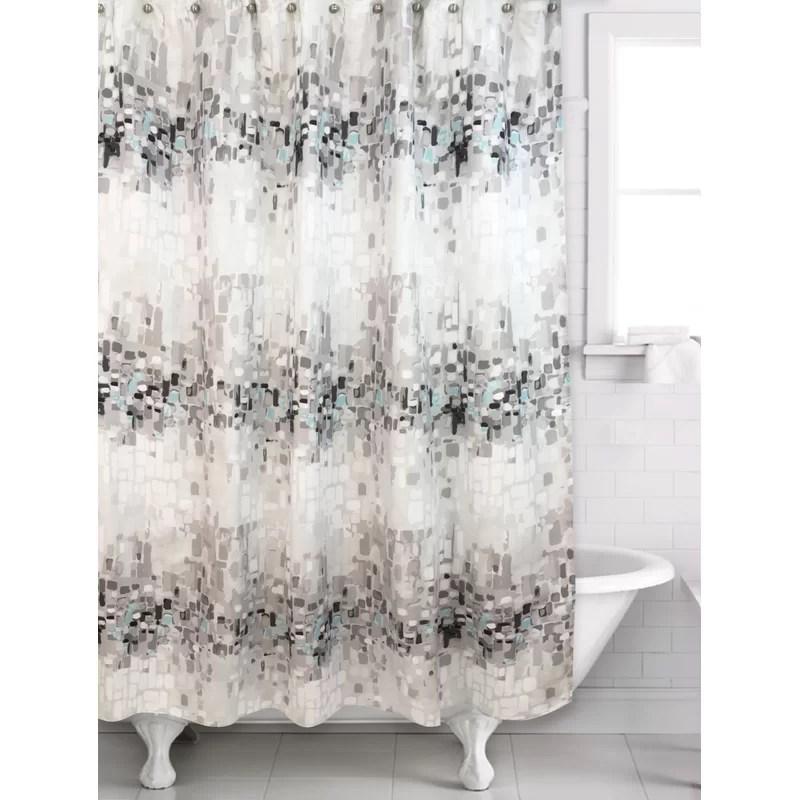 neillsville 2 piece abstract shower curtain set