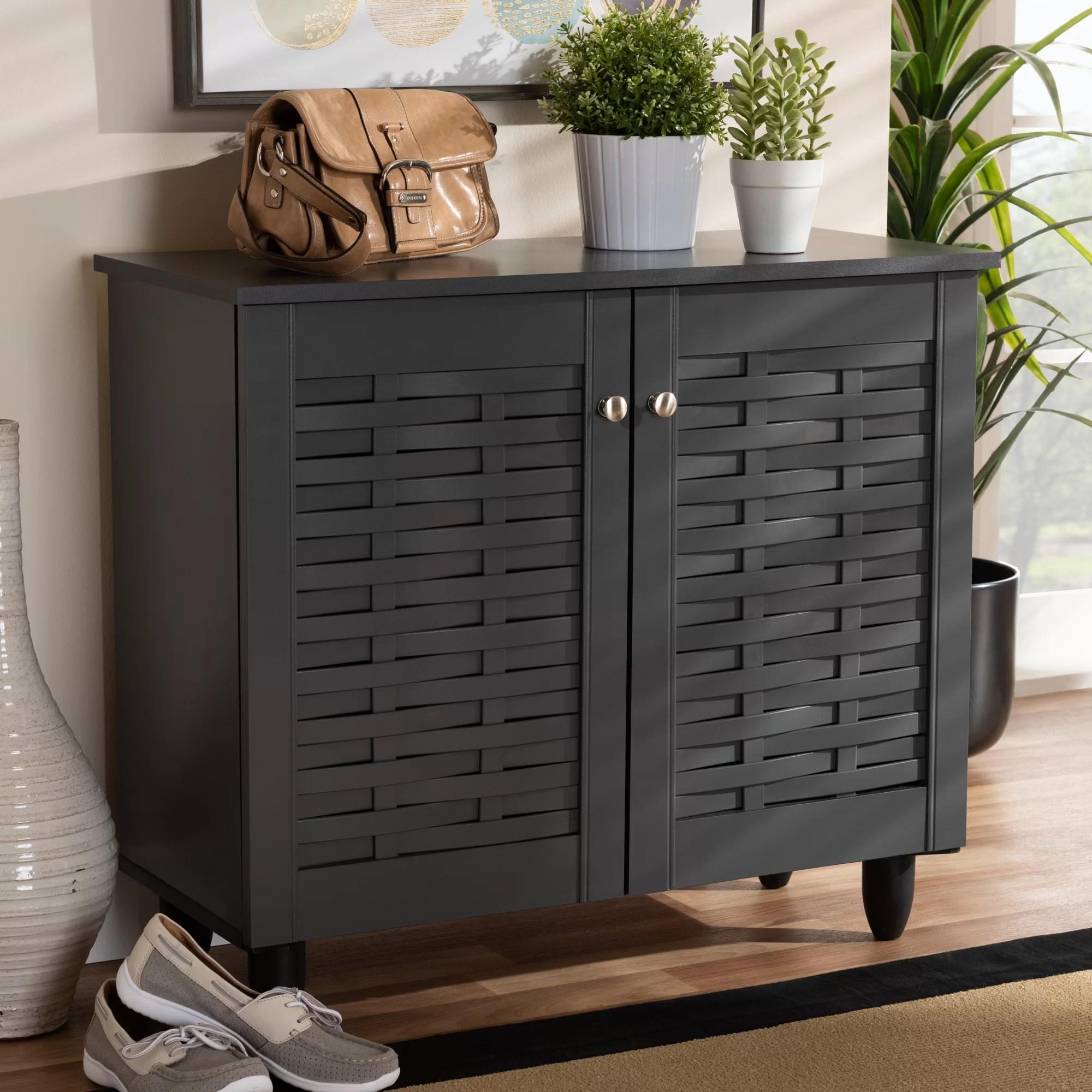 Winston Porter Entryway 9 Pair Shoe Storage Cabinet Reviews