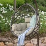 Brayden Studio Weller Outdoor Wicker Basket Swing Chair With Stand Reviews Wayfair