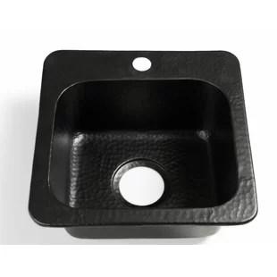 baxter hand hammered 15 l x 15 w drop in kitchen sink