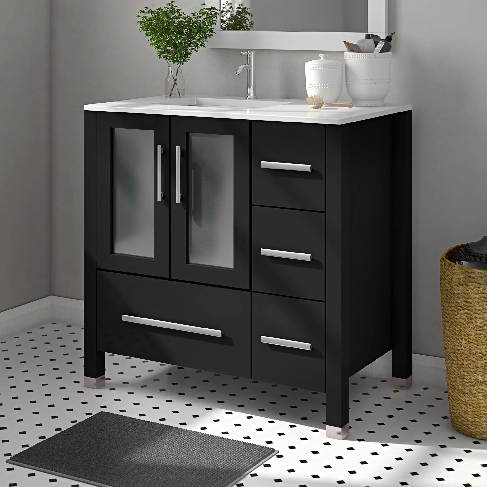 nadeau modern left side 36 single bathroom vanity set