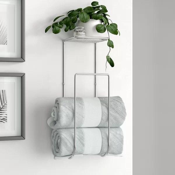 demi wall mounted towel rack
