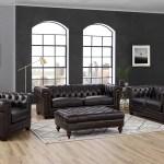 Batchelor 4 Piece Leather Living Room Set
