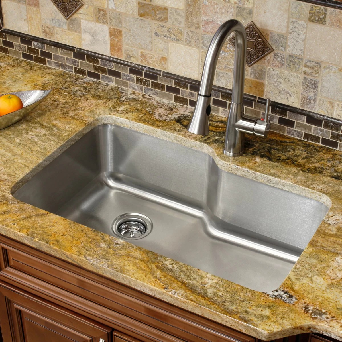 stainless steel 32 l x 20 75 w single basin undermount kitchen sink