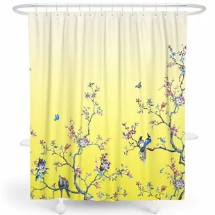 brown yellow gold shower curtains