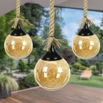 Exhart 31 Battery Powered Integrated Led Outdoor Hanging Light