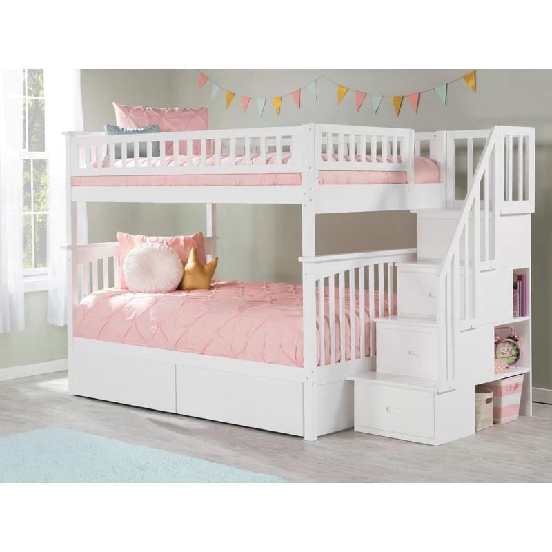 lit superpose double au dessus d un lit double escalier full abel