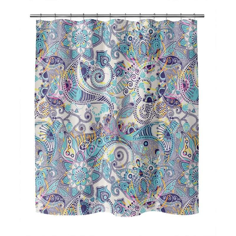 herard paisley shower curtain