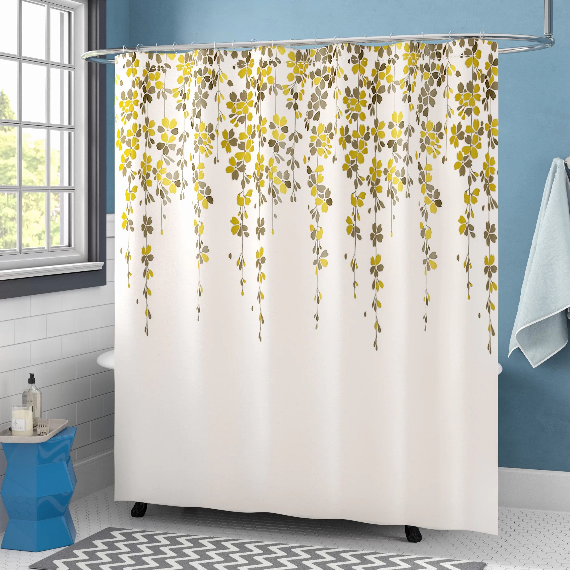 anatoli floral single shower curtain