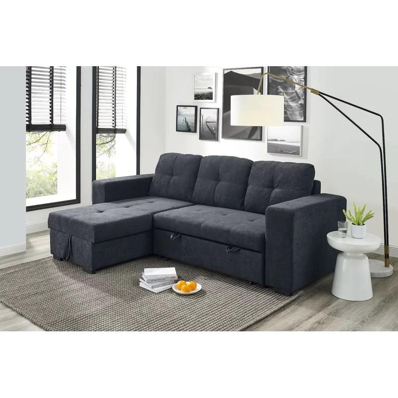 between 68 wide microfiber microsuede sleeper sofa chaise