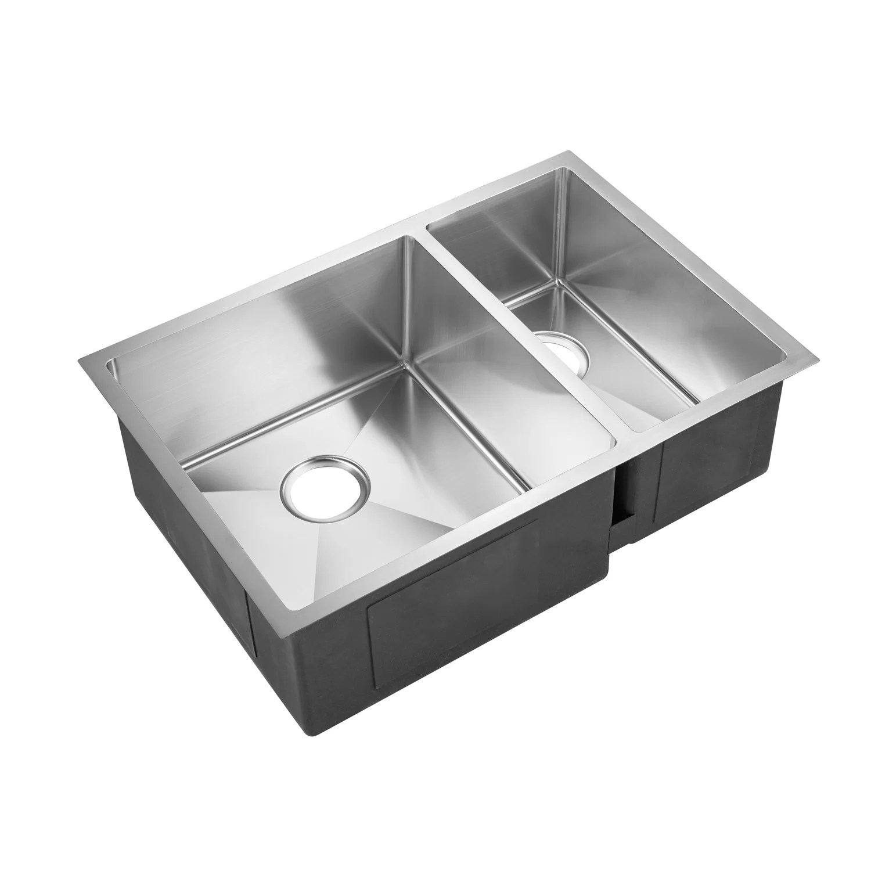 genaro deep 29 x 20 double basin undermount kitchen sink
