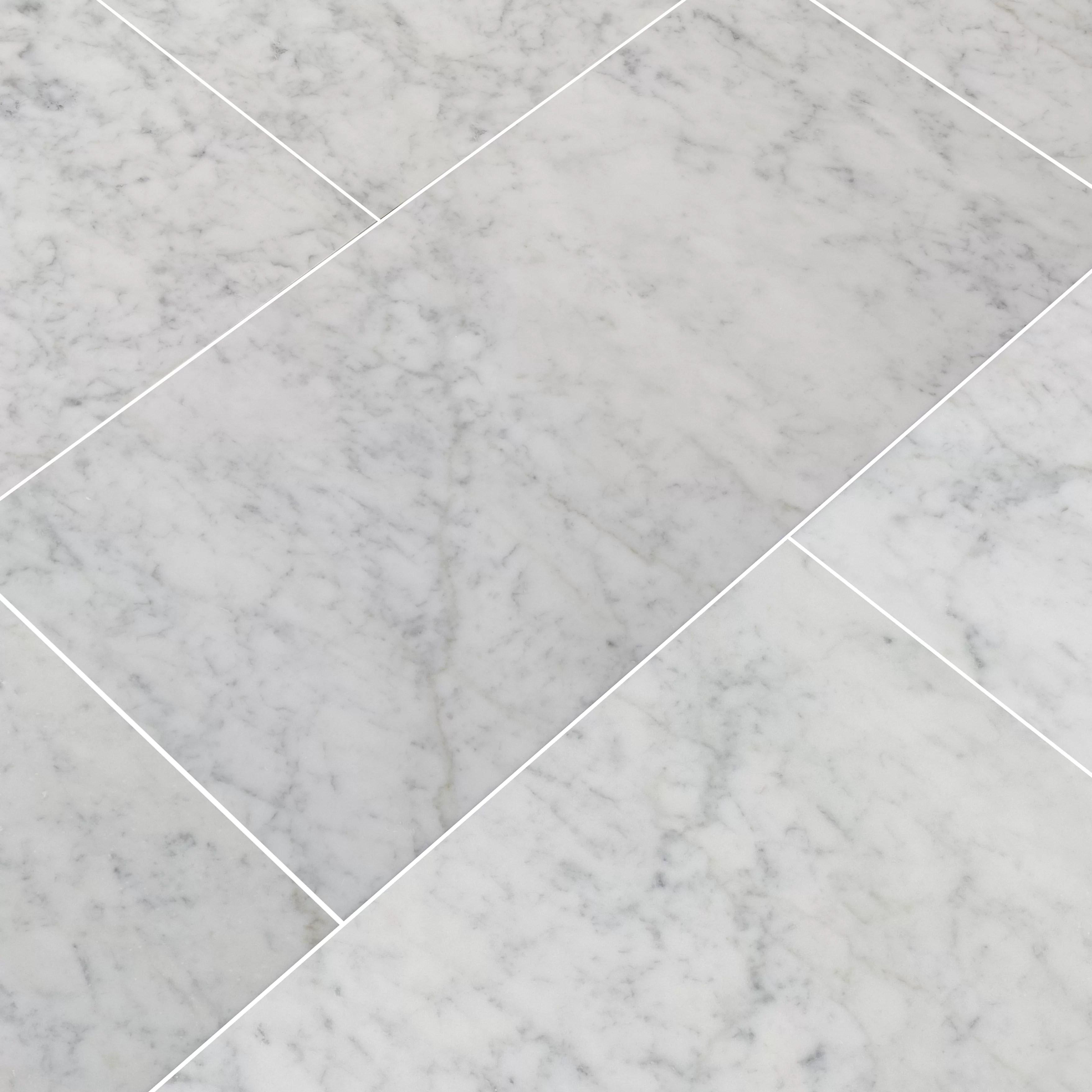 carrara 12 x 24 beveled natural stone marble look wall floor tile