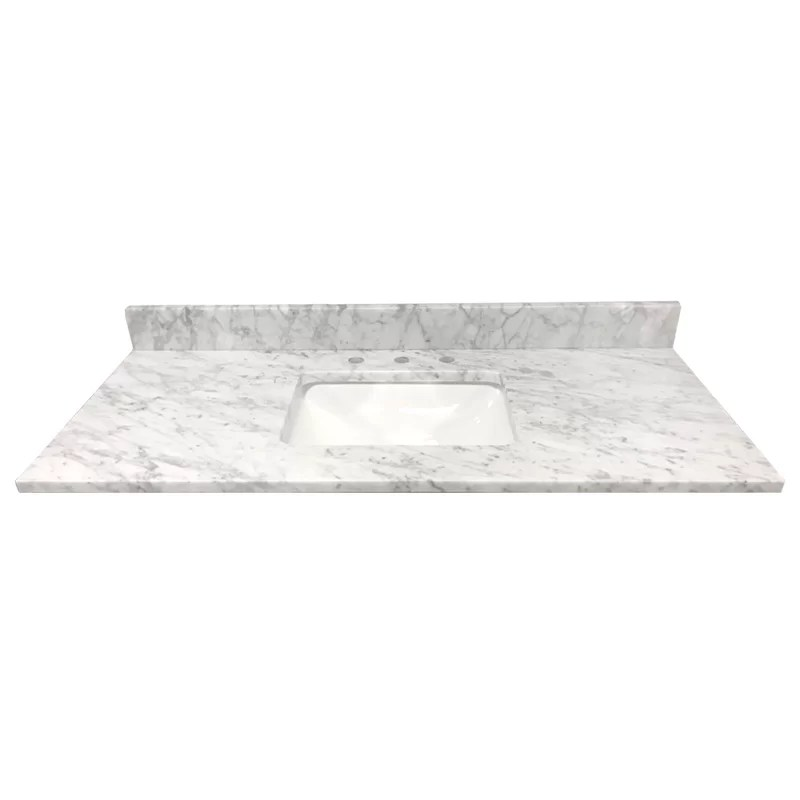 bianco carrara marble 49 single bathroom vanity top