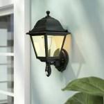 Alcott Hill Barryknoll 1 Bulb 13 H Battery Powered Outdoor Wall Lantern Reviews Wayfair