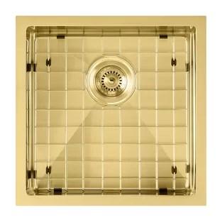 noah plus 18 l x 18 w undermount kitchen sink with sink grid and basket strainer
